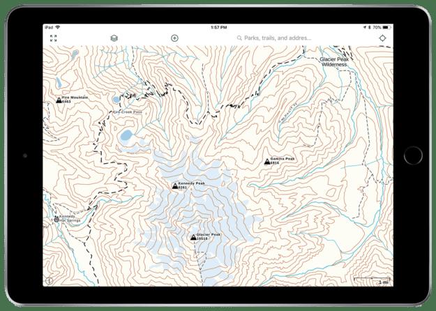 Gaia Topo hiking map