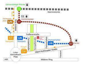 Anfahrtskizze zum Achtsamkeitszentrum München