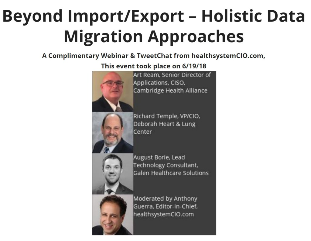 HSCIO Holistic Data Migration