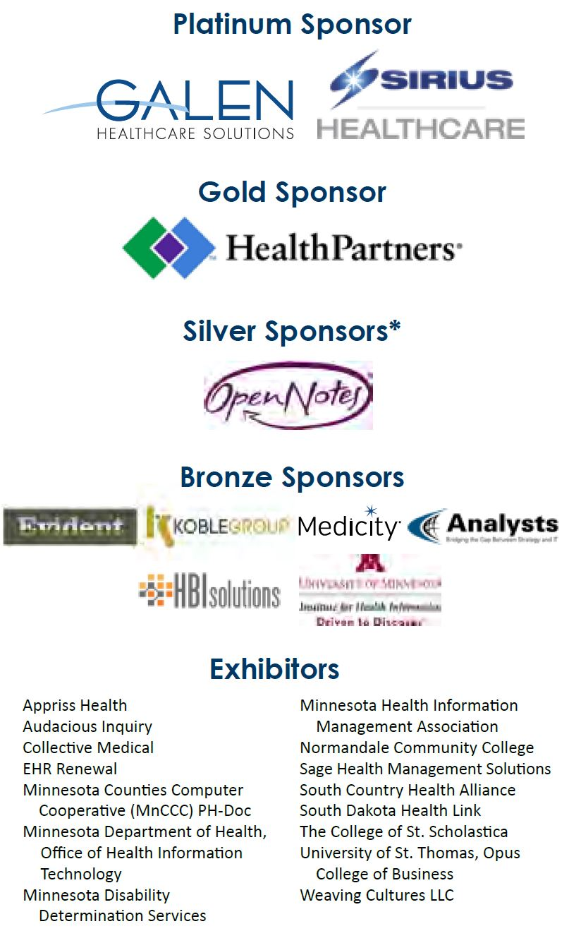 MN e-Health Summit Sponsors