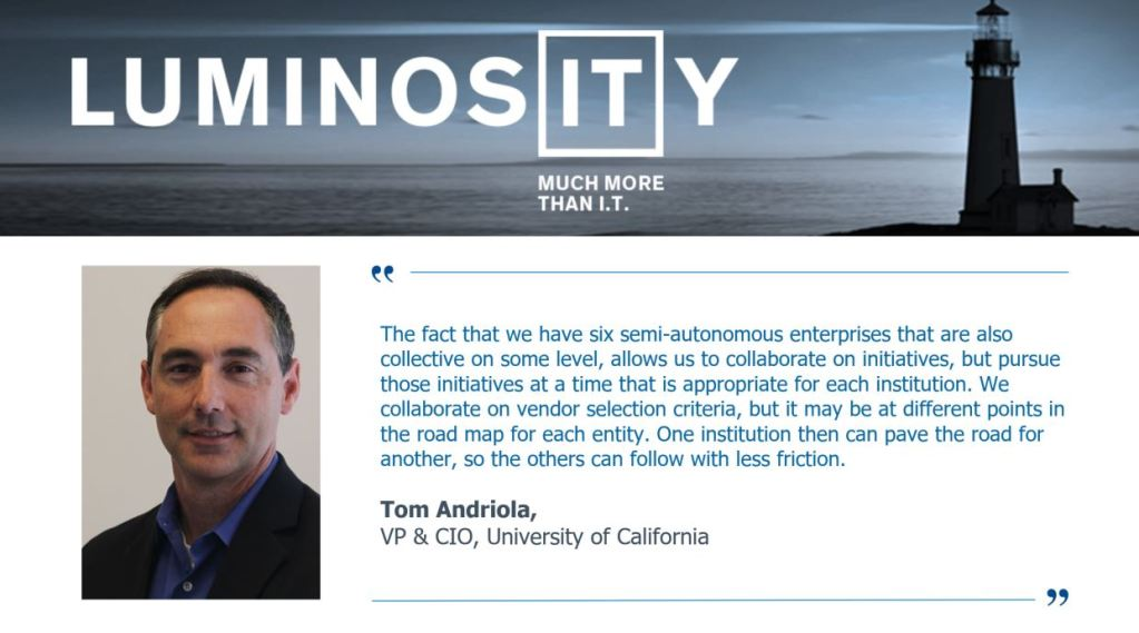 HealthIT CIO Interview Series – Tom Andriola, VP & CIO, University of California