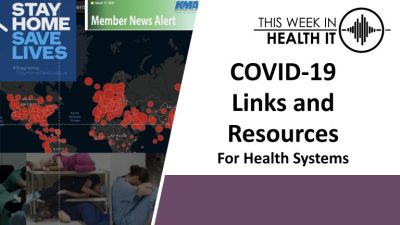 This Week in Health IT Coronavirus Prep – Dr. Daniel Nigrin, CIO & SVP, Boston Children's Hospital