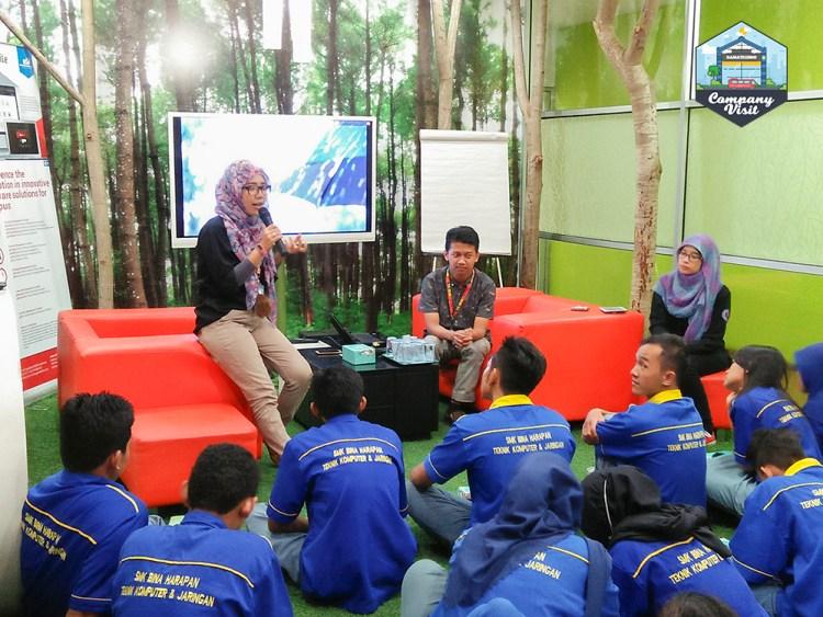 Company Visit SMK Bina Harapan ke Gamatechno sesi tanya jawab