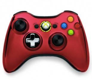 Gamepad Microsoft Xbox 360 Chrome Rouge