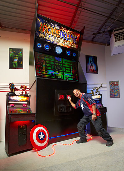 borne arcade geante - Jason Camberis record du monde 2016