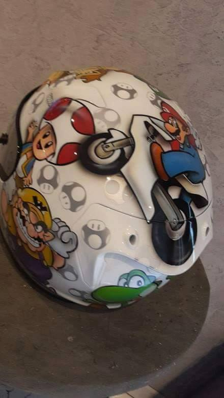 Casque Hjc raph10 - Super Mario - Genetics Helmets