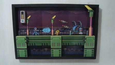 Tableau 3d magnet Megaman