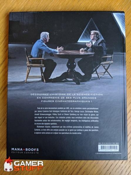 livre Mana Books - James Cameron, histoire de la science fiction - verso