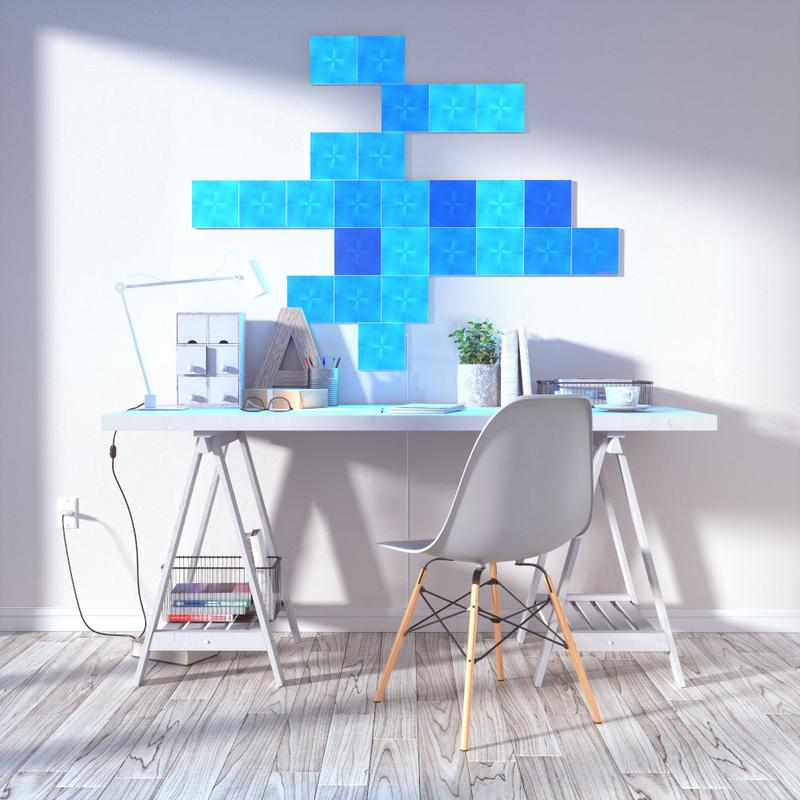 gaming room - test panneaux LED Nanoleaf Canvas
