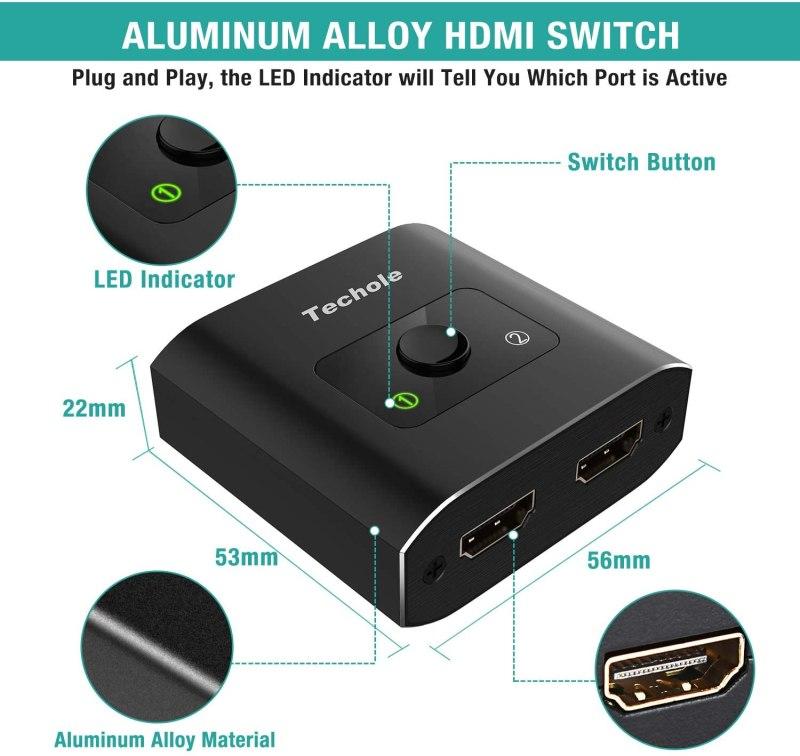 Test switch hdmi 4k Techole