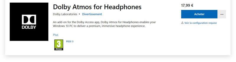 licence Dolby Atmos Headphone