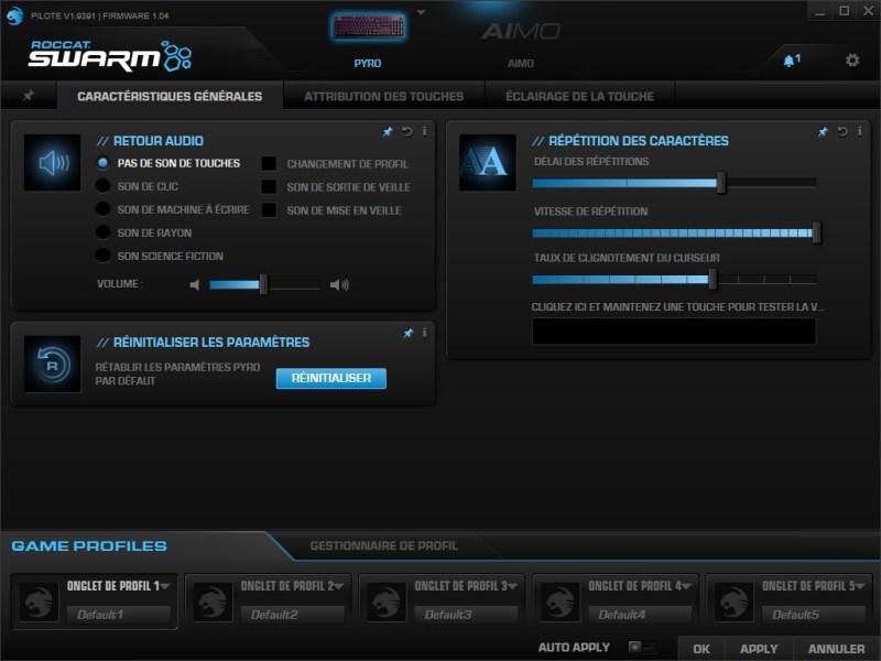 logiciel Roccat Swarm