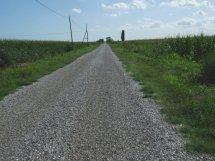 Gravel road direction Torre di Mosto