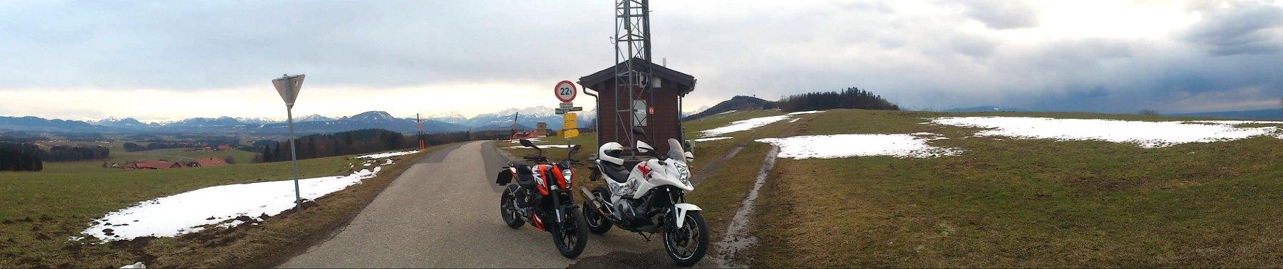 Haunsbergstrecke mit NC700X und KTM Duke 125