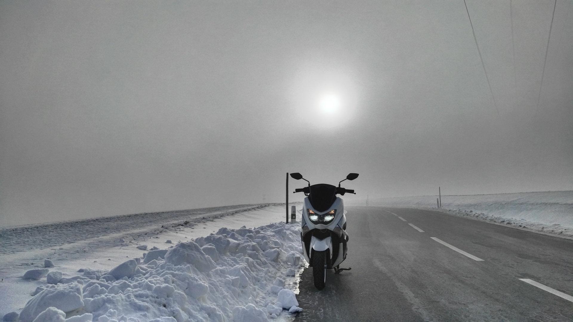 Winterfahrt mit Yamaha NMAX