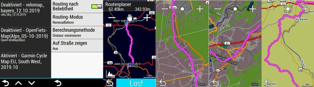 Garmin Cycle Map: Testroute am Edge Explore Navi