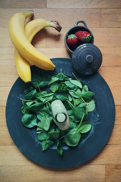 spinach on a plate