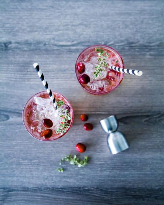 cranberry and thyme gin and tonic recipe