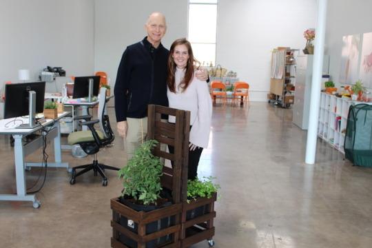 Garrett Boone with Donna Letier