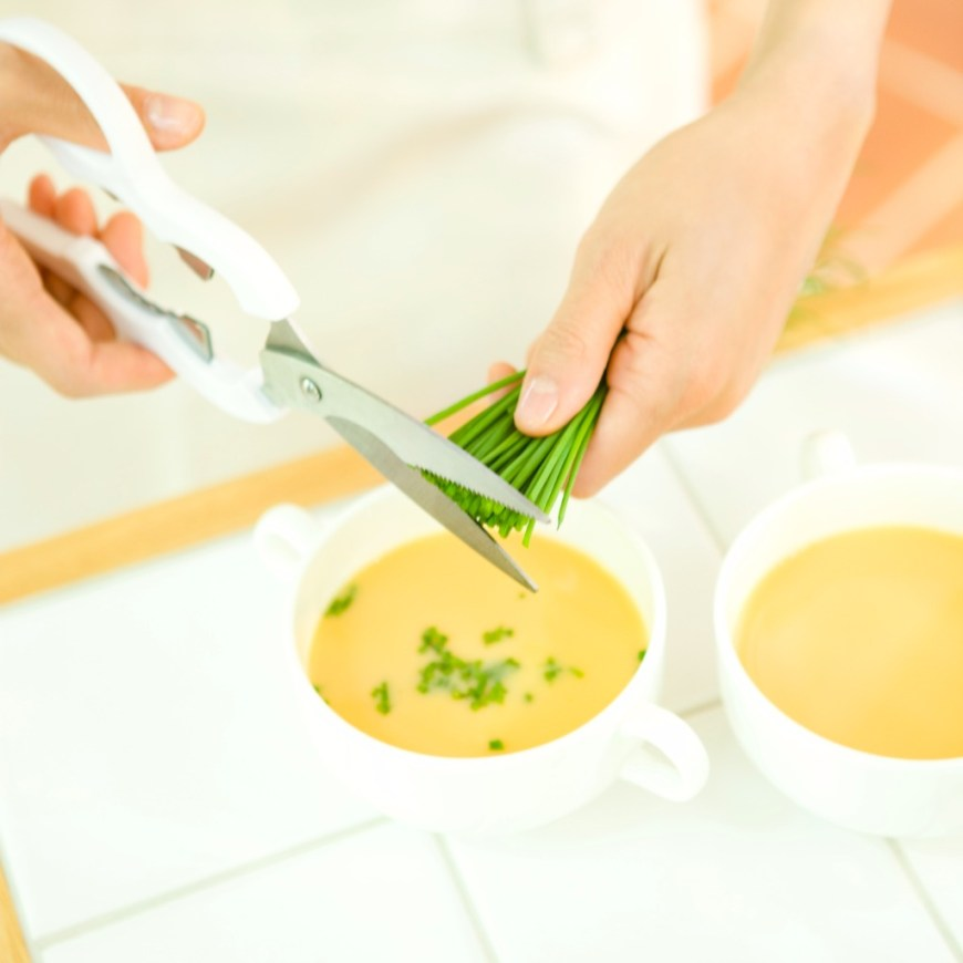 carrot and chive soup