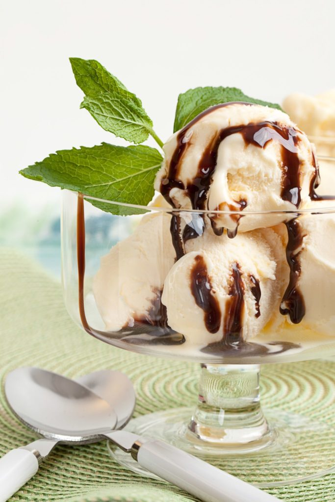 Mint Hot Fudge Ice Cream Sundae