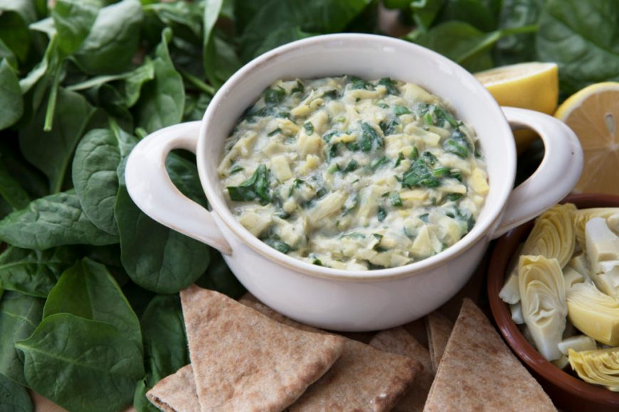 vegan superbowl spinach dip recipe