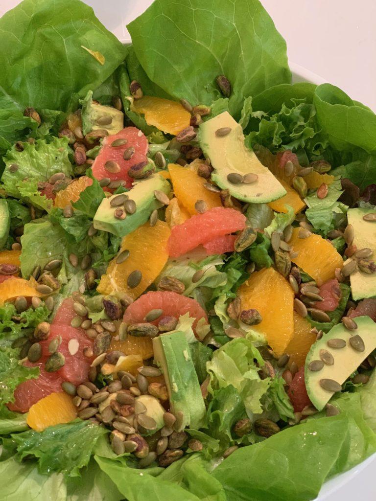 Avocado Citrus Salad for Nordic Diet