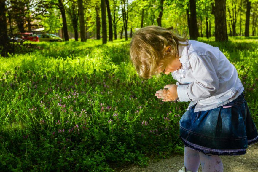Child Practicing Gratitude