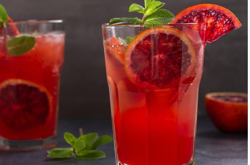 Blood Orange Mint Gimlet Recipe