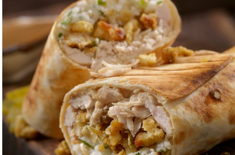 Leftover Turkey and Stuffing Tacos