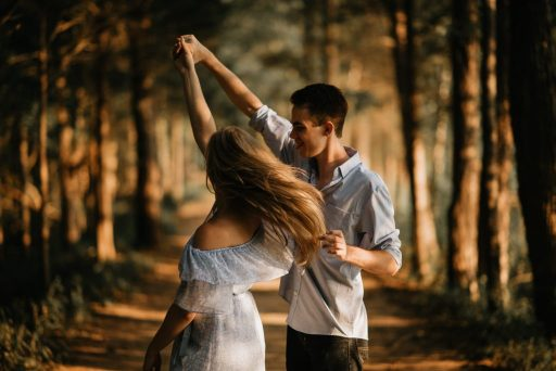 Couple Dancing On a Date