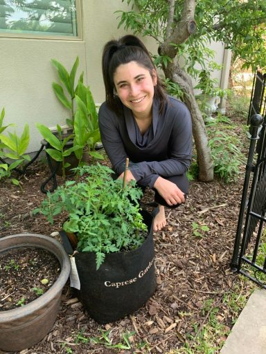 Lexi Colan with Her Gardenuity Garden Earth Day 2020