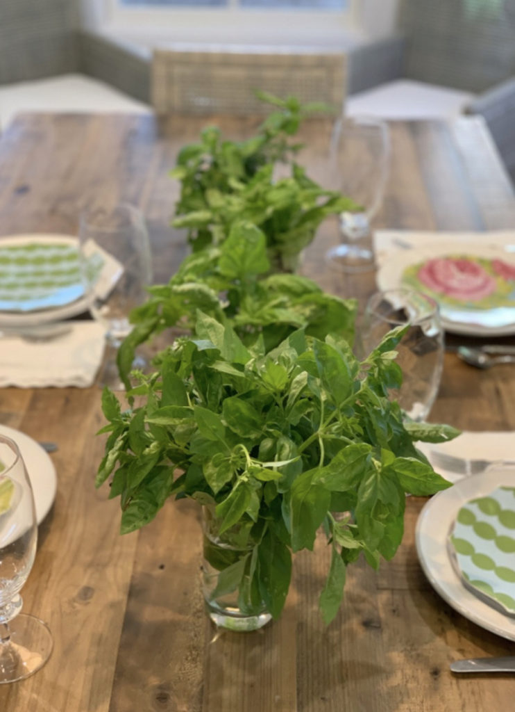 Herb Bouquet on Table