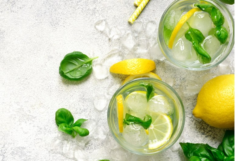 Garden Fresh Gin and Tonic Sparkling Cocktail