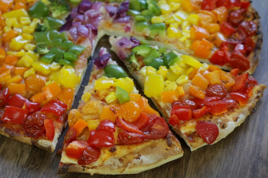 Colorful Frozen Pizza
