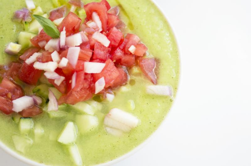 Cucumber-Tomatillo Gazpacho