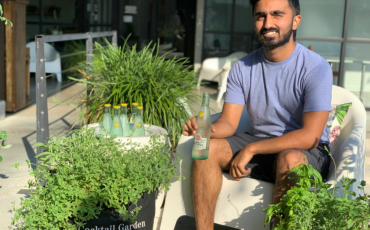 Ravi Shah with Garden Kits