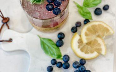 Blueberry Basil Summer Lemonade