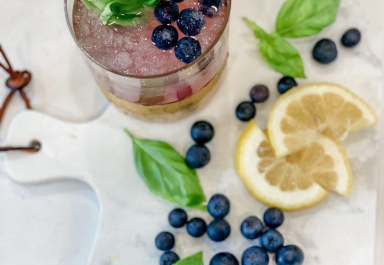 Blueberry Basil Vodka Summer Lemonade Recipe