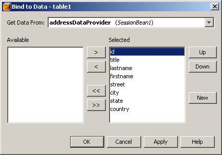 Select Data Provider