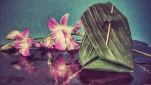 kokosová ryža v banánovom liste