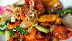 obed: kuracina na zelenine s kešu