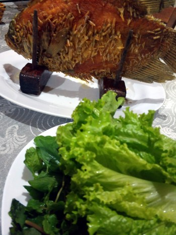 Bến Tre, homestay, večera ryba Slonie Ucho