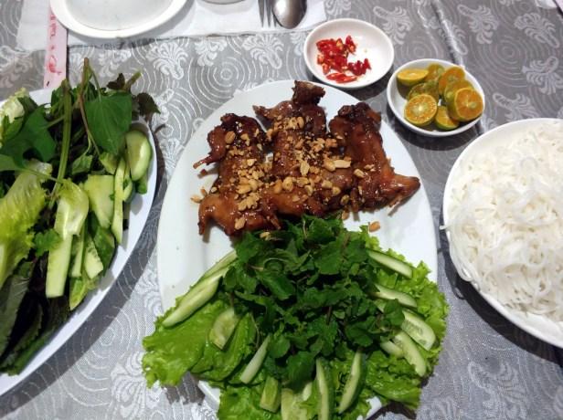 Bến Tre, homestay, večera ryba Potkanček