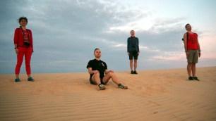 Biele duny, východ slnka