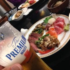 宿はもちろん八甲田山荘!海の幸&肉料理のBuffetは最高♪