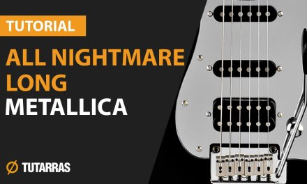 How to play ALL NIGHTMARE LONG by Metallica – Electric GUITAR LESSON