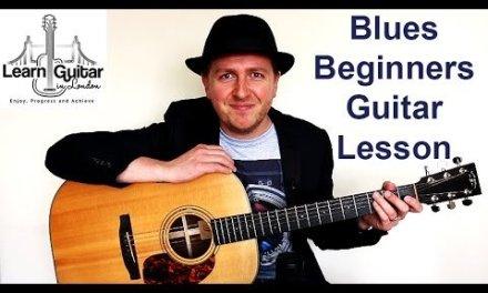 Beginners Easy Blues Guitar Lesson – Drue James – Got The Blues – FREE TAB
