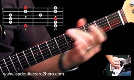 Learn The Major Pentatonic Scale & Classic Guitar Lick – Lead Guitar Lesson