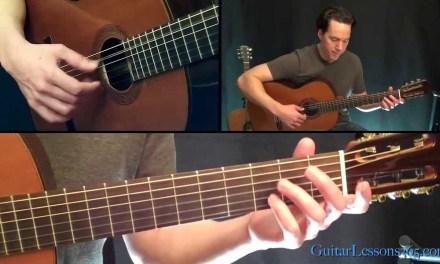 Classical Gas Guitar Lesson – Mason Williams – Part Three